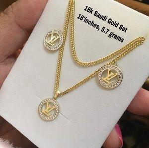 18 k LV set Saudi gold